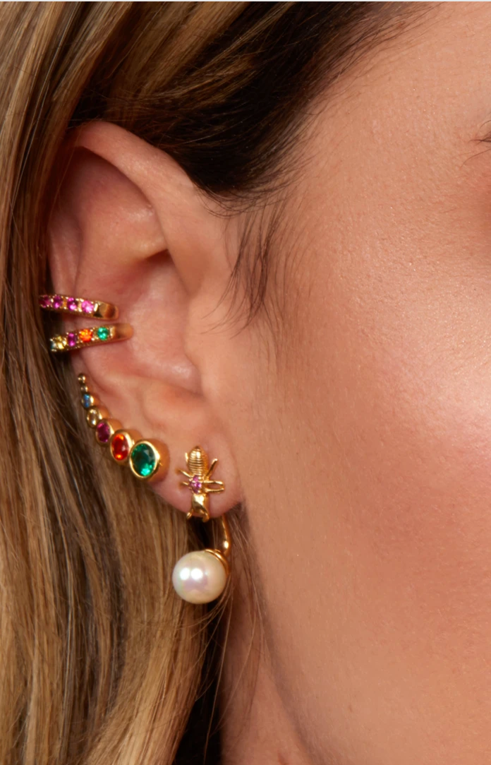 Rosalind Ear Cuff - Rainbow