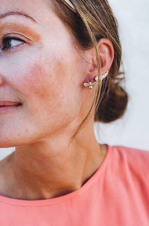 Alexandrina Clear Earrings