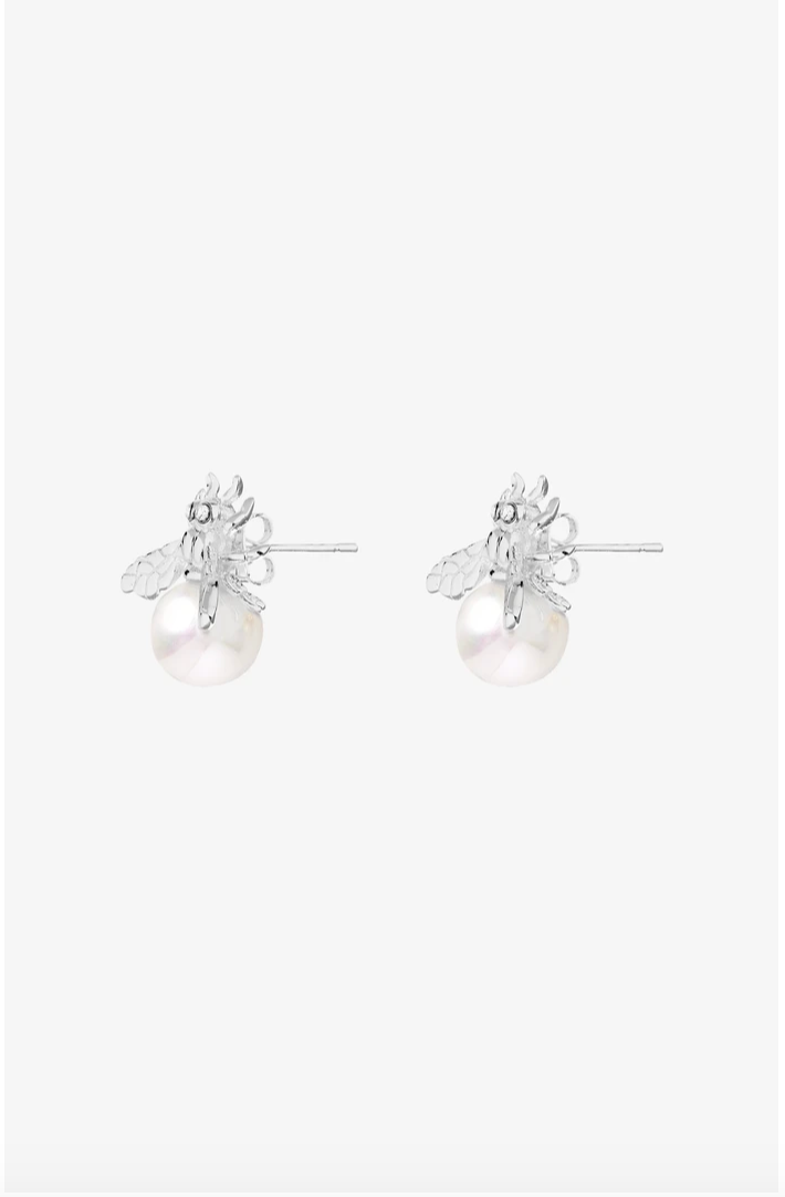 Aurelia Bee Earrings - Silver