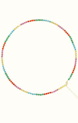 Tabitha Rainbow Tennis Necklace