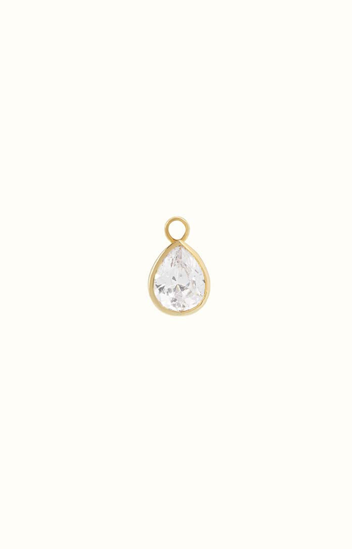 Clear Tear Drop Charm