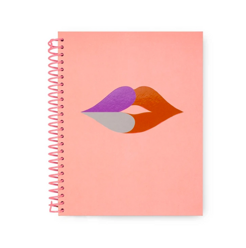 Heart Lips Spiral Notebook