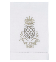 Load image into Gallery viewer, Welcome Home French Knot Pineapple Towel.
