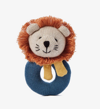 Load image into Gallery viewer, Lion Baby Ring Rattle