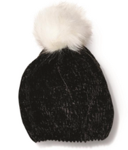 Load image into Gallery viewer, Snowmance chenille hat with faux fur pompom