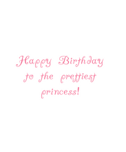 Load image into Gallery viewer, Little Princess Birthday Card