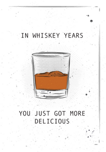 Birthday Whiskey Card