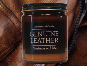 Genuine Leather Candle