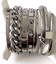 Load image into Gallery viewer, Belt Bangle Silver