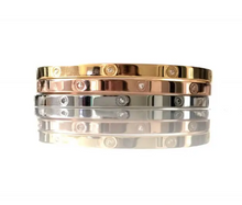 Load image into Gallery viewer, Cristal Bangle Thin Rose Gold