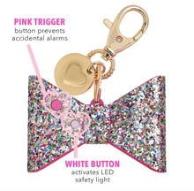 Load image into Gallery viewer, Confetti Glitter Bow Personal Alarm
