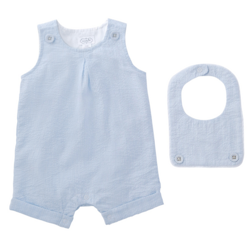 Light Blue Shortall With Bib