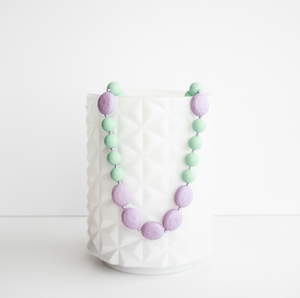 Glam Teething Necklace - Mint & Lilac