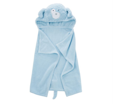 Puppy Baby Hooded Towel - Blue