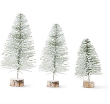 Load image into Gallery viewer, Snowy Long Needle Pine Trees on Wood Base