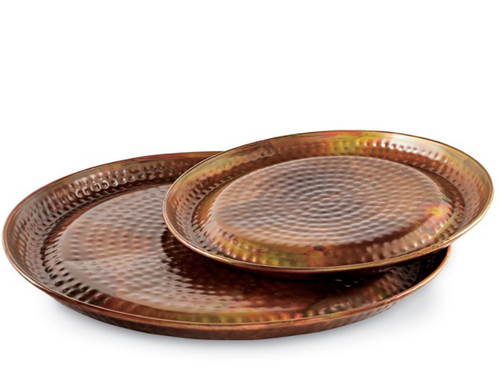 Hammered Copper Tray - Large