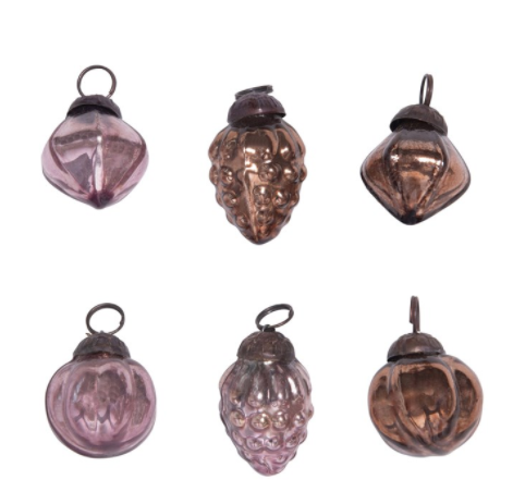 Ornaments Bronze & Plum Colors