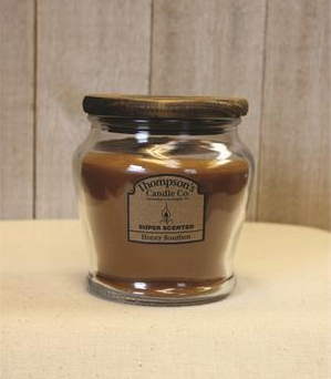 Wooden Wick Jar candle Honey Bourbon