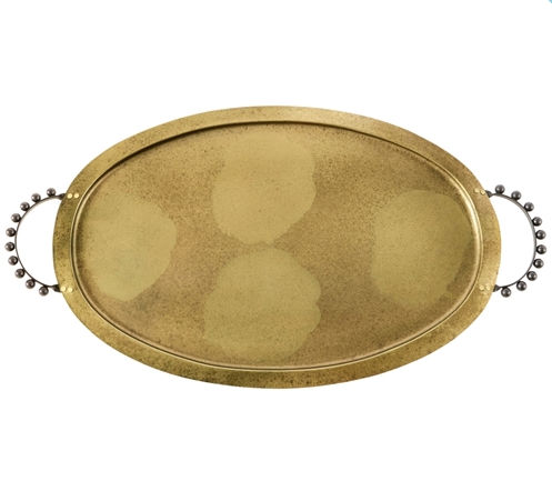 Large Gold Tray with Handles
