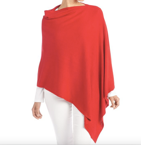 Lightweight Poncho - Red