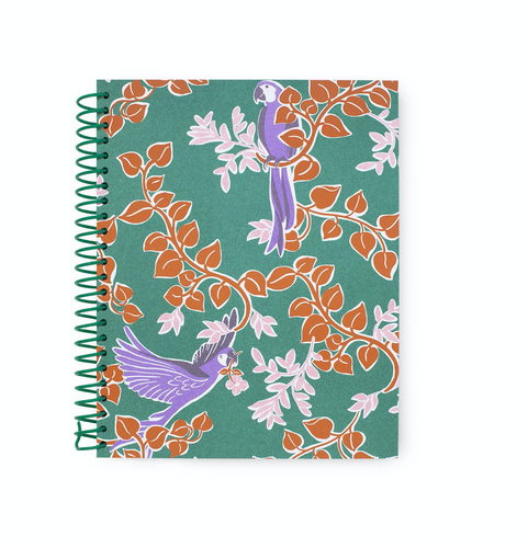 Spiral Notebook - Bird party