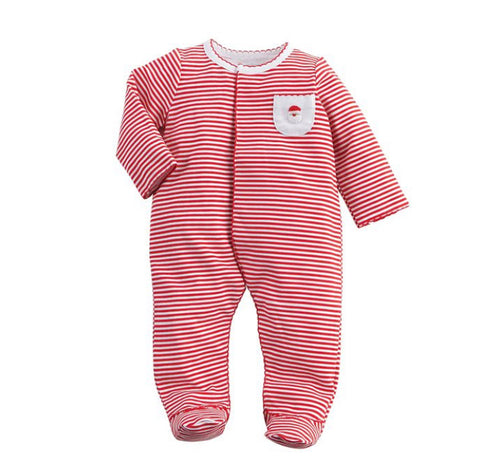 French Knot Santa Sleeper (3-6 mo)