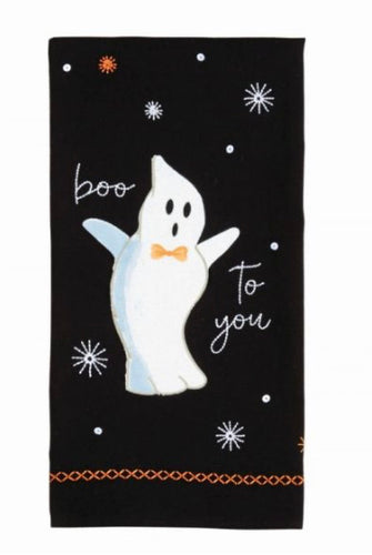 Ghost Sequin Hand Towels