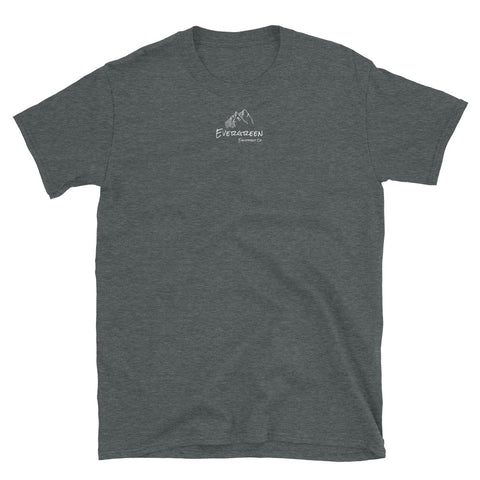 Our flagship tee built by the Evergreen team. Tell us which design you like more! @evergreen.eec on Instagram You've now found the Trailhead tee. The pioneer of our apparel line, the Trailhead tee is made of a thicker, heavier cotton, but it's still soft and comfortable. Material: cotton, polyester