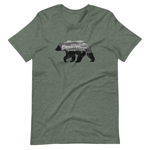 A landscape design in our bear logo ready for everyday adventure outdoor use. The Bear Roams t-shirt comfortable enough for everyday use, 100% cotton, and is a is available in a variety of pretty sweet colors. Size: S, M, L, XL, 2XL Style: Short Sleeve