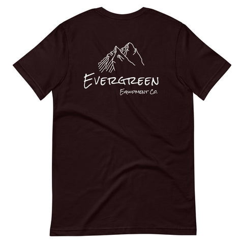 Our flagship outdoor everyday tee built by the Evergreen team. Tell us which design you like more! @evergreen.eec on Instagram You've now found the Trailhead tee. The pioneer of our apparel line, the Trailhead tee is made of a thicker, heavier cotton, but it's still soft and comfortable.  Material: Cotton, Polyester