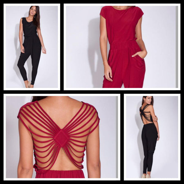 Backless Jumper With Shoulder Slits