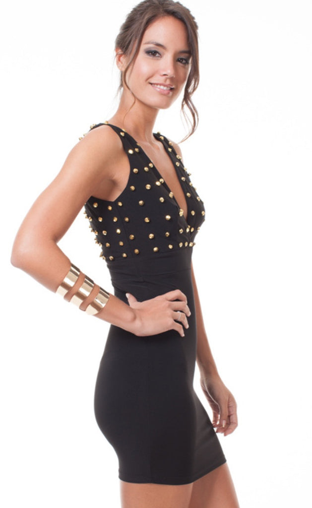 Gold Studded Dress