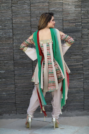 Unconventional Indian Dress With Dupatta