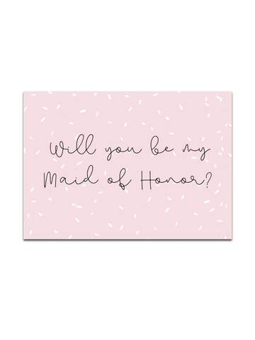 FREE Maid of Honor card