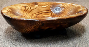 Carved Wood Bowl, large