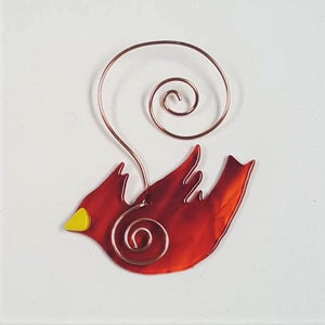 Holiday Ornament, fused glass - BLIZZARD OF SAVINGS!