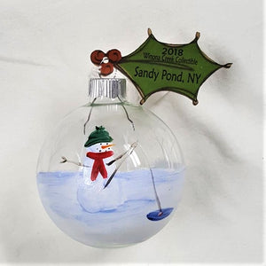 Collectible Ornament Series, Handpainted Snowman Ornament - BLIZZARD OF SAVINGS!