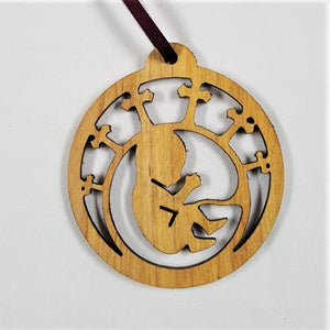Holiday Ornament, wood filigree - BLIZZARD OF SAVINGS!