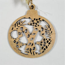 Load image into Gallery viewer, Holiday Ornament, wood filigree - BLIZZARD OF SAVINGS!