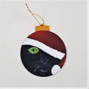Holiday Ornament, handpainted wood - CLEARANCE