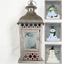 Load image into Gallery viewer, Holiday Lantern, handpainted - CLEARANCE