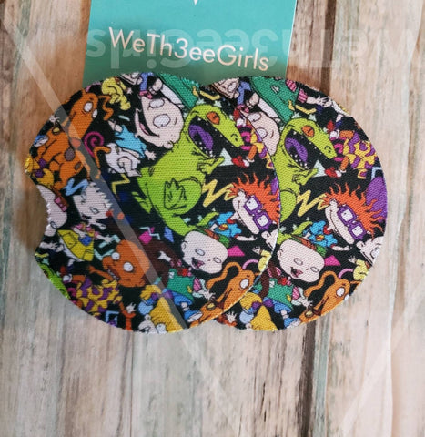 Rugrats, Tommy, Chucky, Pickles, 90s, Cartoon, Gift, Inspired Neoprene Car Coaster, 2 pack (VIPcoastrugrats)