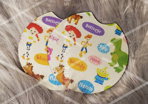 Woody, Buzz, Jessie, Rex, Story, Cartoon, Gift, Inspired, Made to Order, Neoprene Car Coaster, 2 pack (MTOcoastertoystory)