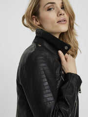 VERO MODA Kerri Faux Leather Jacket