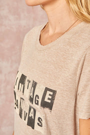 TWENTYSEVEN the label Vintage Canvas Tee