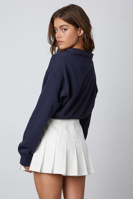 27 Half Zip Cropped Pullover