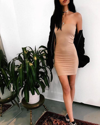 C'EST MOI SEAMLESS TUBE DRESS