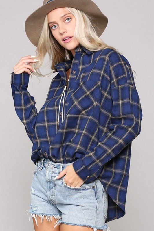 27 Riley Oversized Plaid Button Down