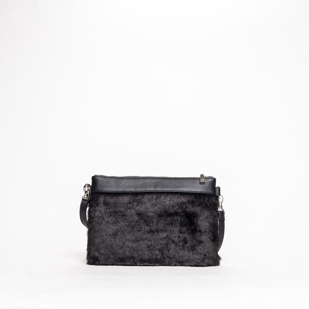 CO LAB 6159 Shaggy Clutch Crossbody Bag
