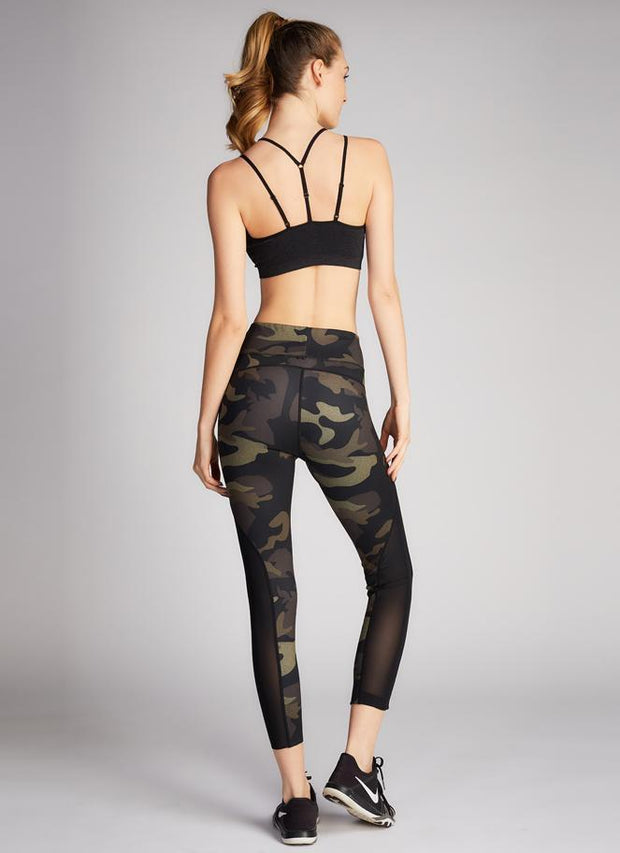 C'EST MOI Camo Print 3/4 Length Reversible Leggings